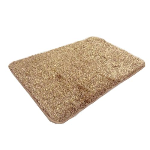 STYLISH LUXURY SPARKLE GLITTER FLUFFY SUPER SOFT BATH MAT NON SLIP LATTE BEIGE